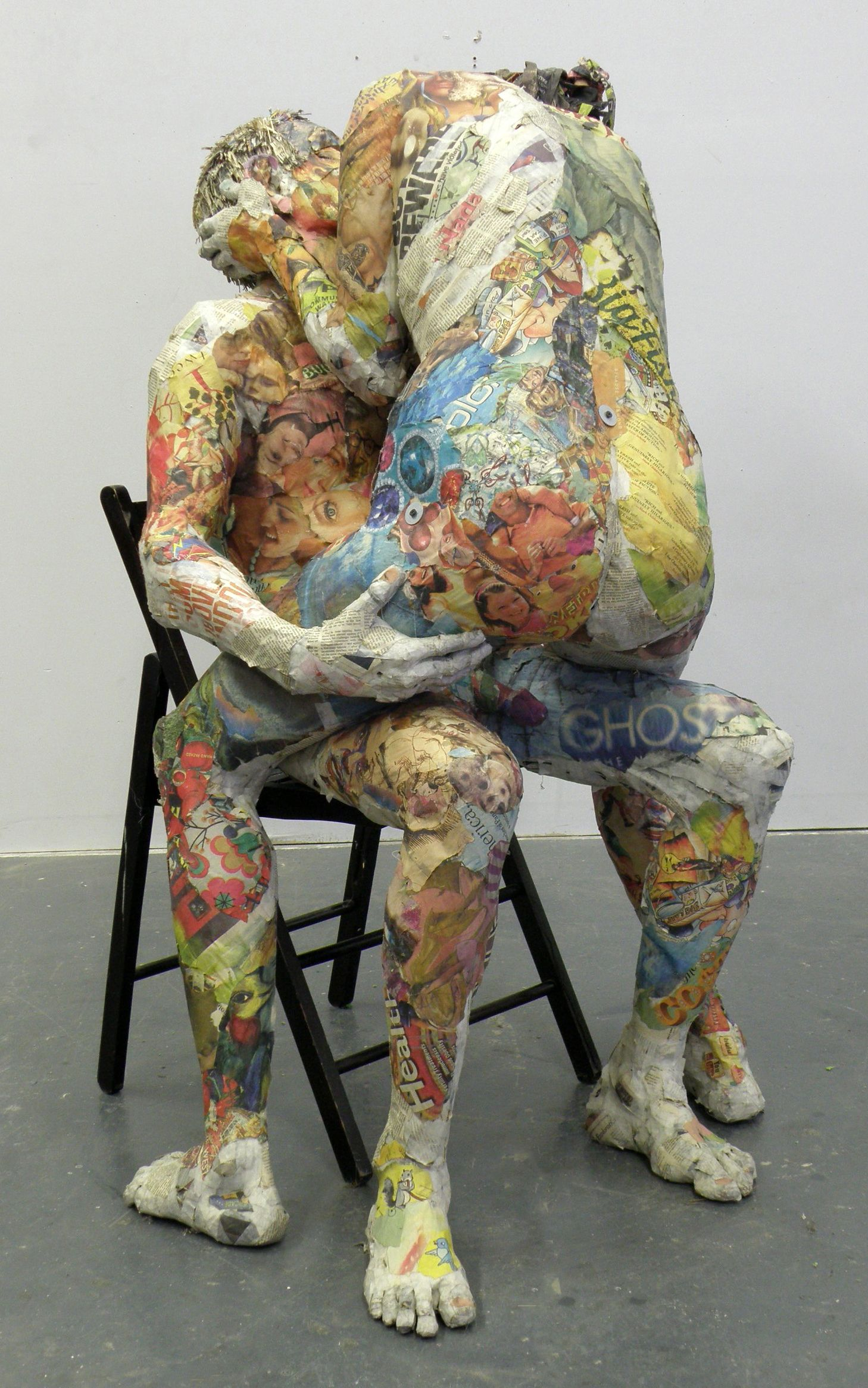 paper mache sculpture by will kurtz art is sexy n 39 est ce pas amour in 2018. Black Bedroom Furniture Sets. Home Design Ideas
