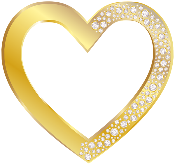 gold heart with diamonds png clip art image hearts pinterest rh pinterest com gold heart wedding clipart gold heart wedding clipart