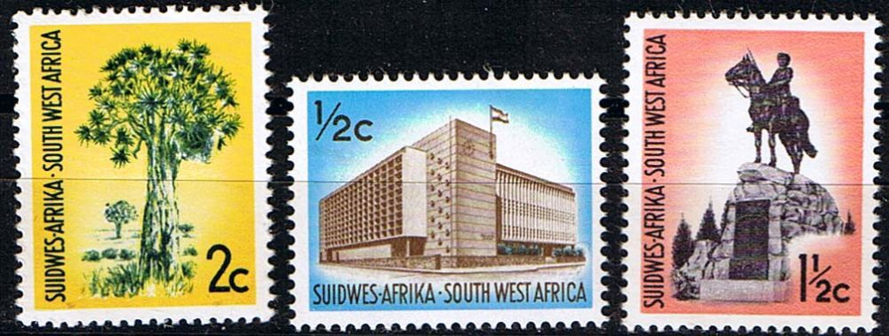 South West Africa 1970 71 Redrawn Set Fine Mint    SG 224 6 Scott 315 318 9 Redrawn Other British Commonwealth stamps for sale here