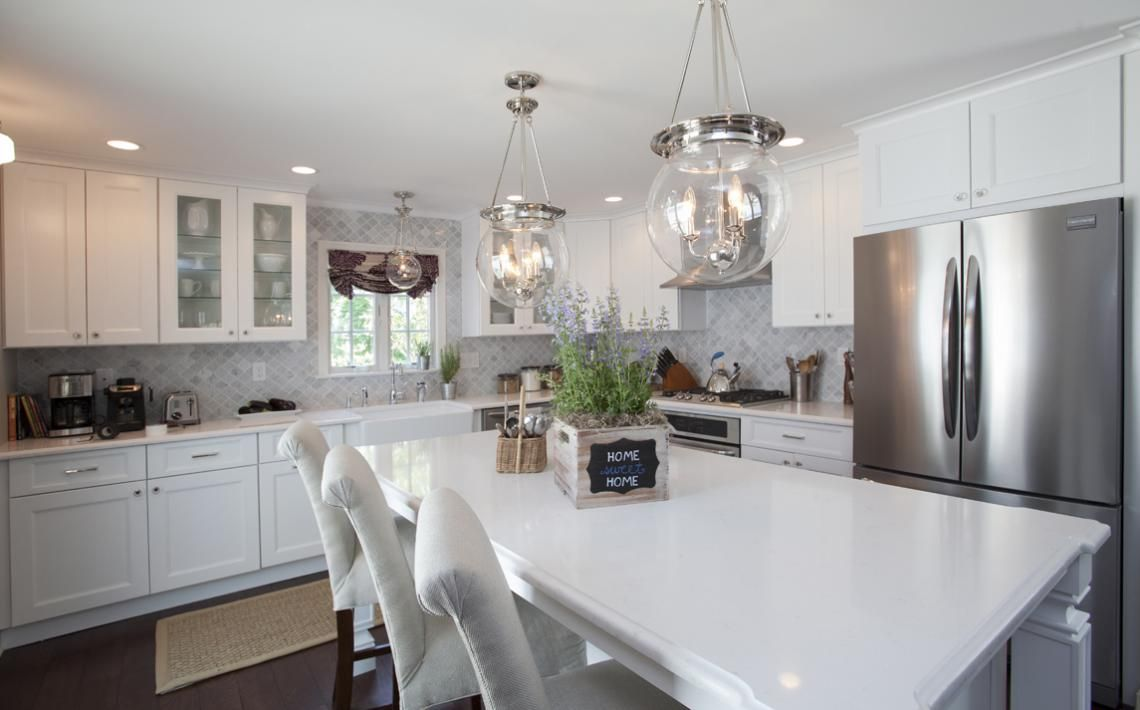 Love The Island The Chairs The Crystal Knobs And The Lightening - Property brothers kitchen remodels
