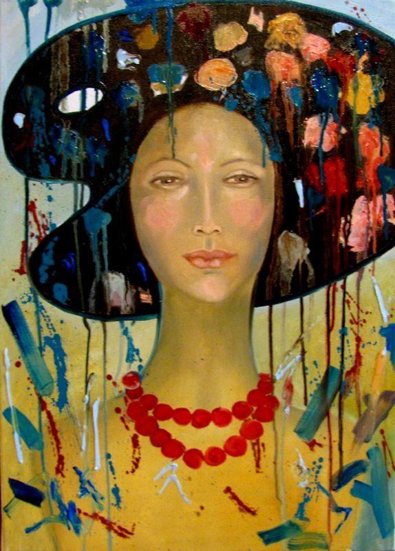 Kobieta Art,70x50,olej