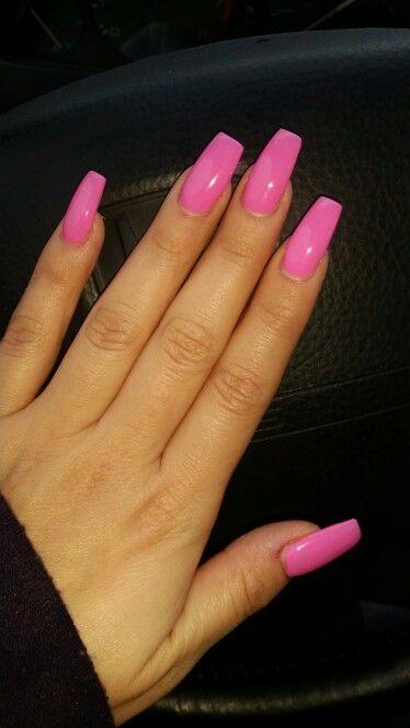 Barbie Pink Nails Barbie Pink Nails Pink Acrylic Nails Pink Nails