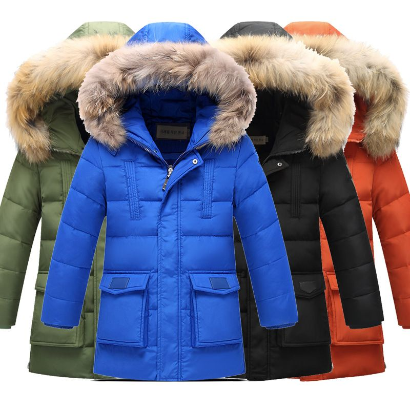 14eb24bee42f High quality 2017 Fashion Children Winter Slim Section Waterproof Thick  Down Jacket Boys Down Jacket Duck Down Jacket Wear Coat