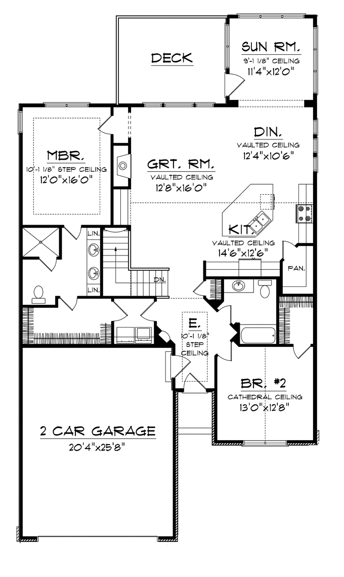Traditional Style House Plan 2 Beds 1 75 Baths 1662 Sq Ft Plan 70 1110 Ranch House Plans Bungalow House Plans House Plans