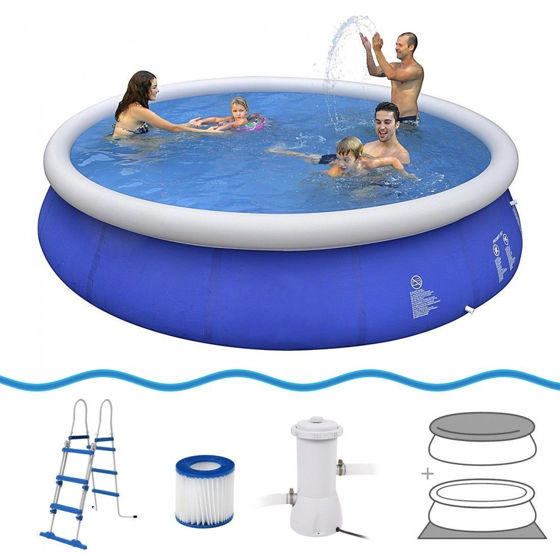 Filterpumpe Pool Entleeren Jilong Marin Blue Set Ø 45090 Quick Up Swimming Pool