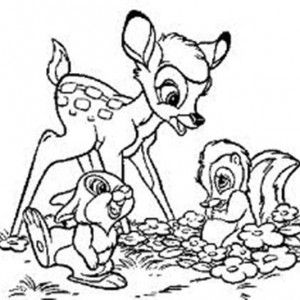 Bambi Tickling Thumper Hard Coloring Pages | Bulk Color ...