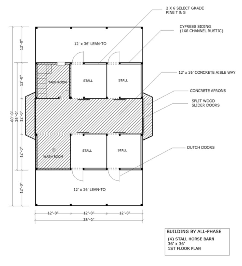 Horse pole barn plans source more barn home horse for Horse barn layouts floor plans
