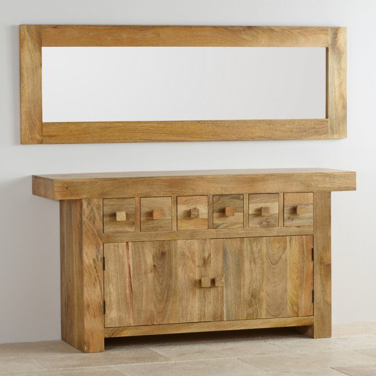 Natural Solid Light Mango 1800mm x 600mm Wall Mirror | Frame mirrors ...