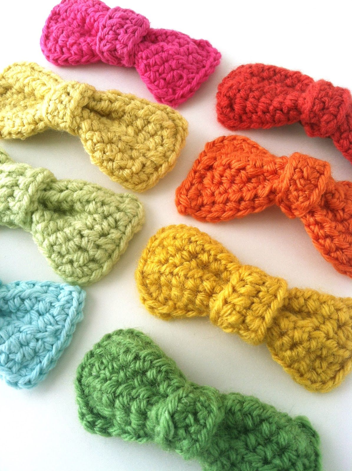 Sweet & Simple To Make, Crochet Bow: free pattern...would be cute on ...