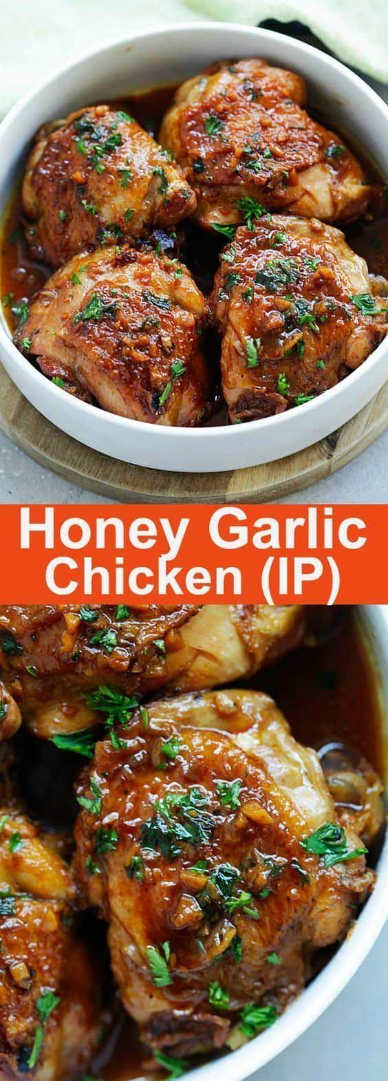 Honey Garlic Chicken Moist Tender Fall Off The Bone Chicken Thighs In Savory And Sweet Honey
