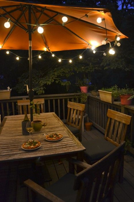 Patio Umbrella Lights Design Ideas