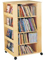 4 Tiered Childrens Book Cart Display For Floor Jonti Craft Sided Wood