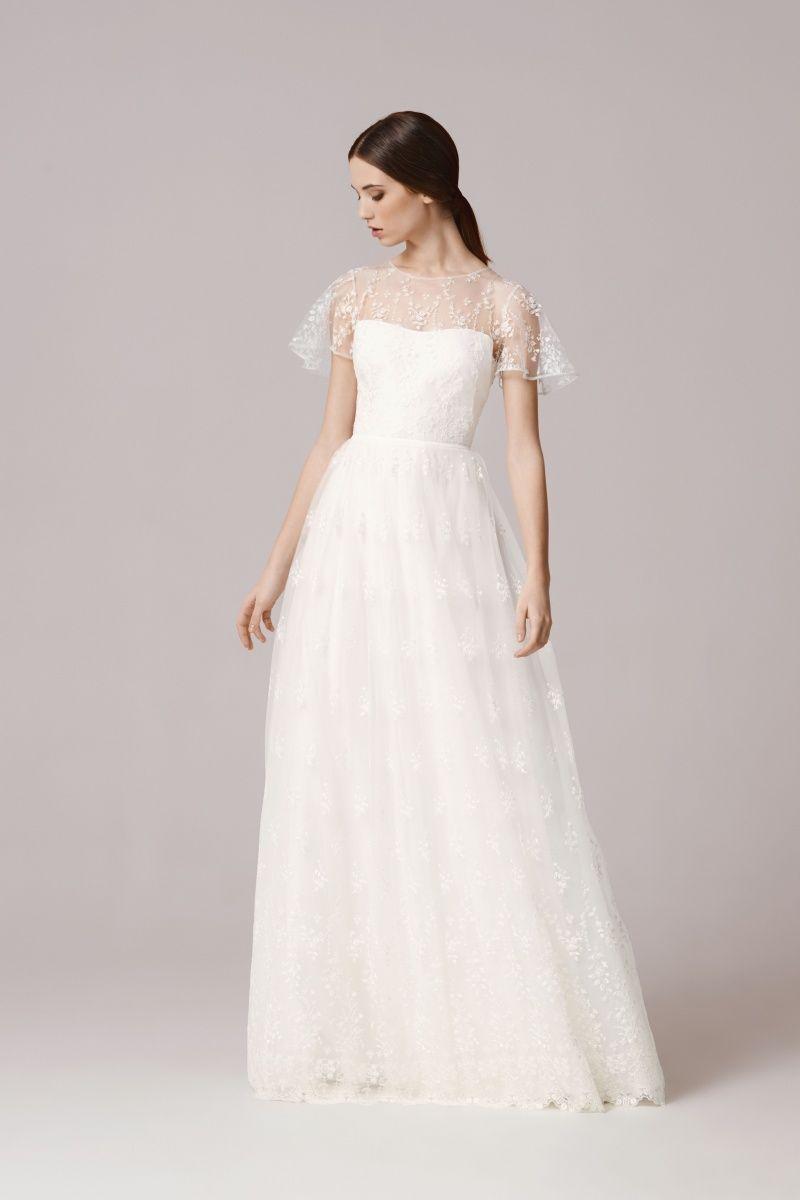 Lace button up wedding dress november 2018 IVA  Suknie Ślubne Anna Kara  white in   Pinterest  Wedding