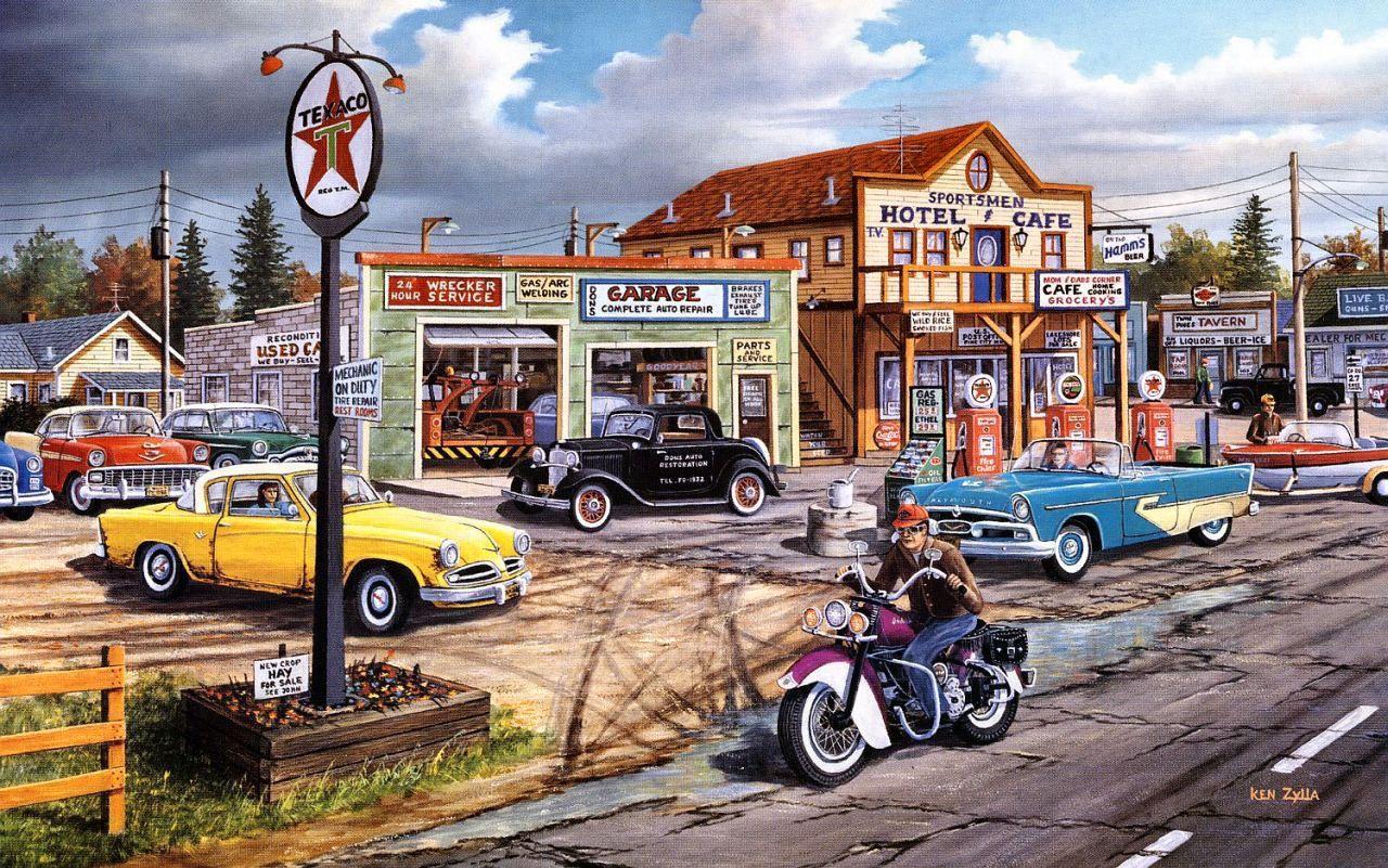 Crossroads ken zylla art charming transportation for Garage du marmont