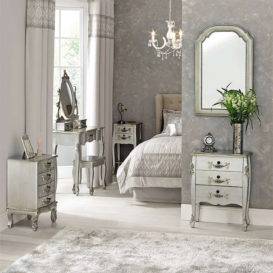 Toulouse Silver Dressing Table Set Dressing Tables Toulouse And - Toulouse bedroom furniture white