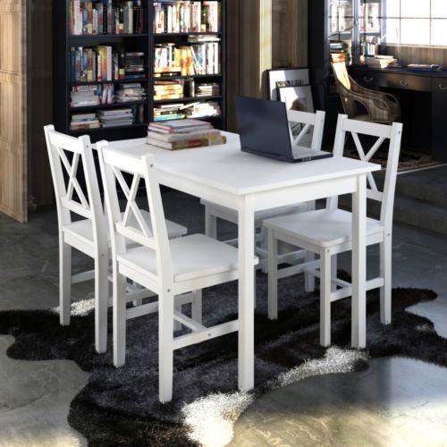Holztisch Esstisch Sitzgruppe Tischset Esszimmer Esstischset Tisch 4