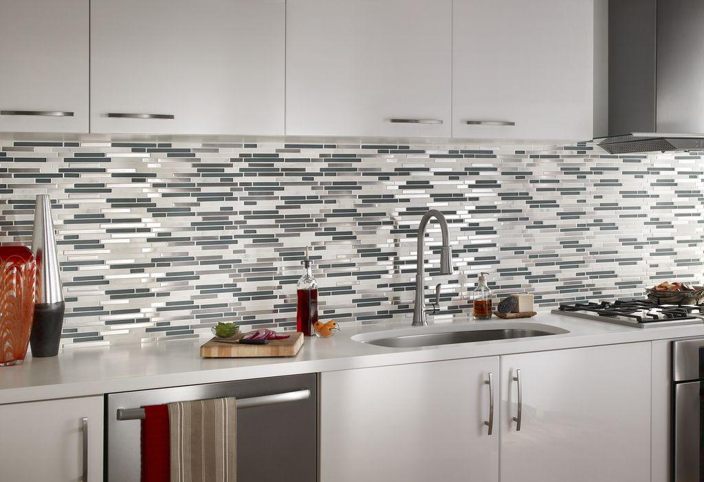 Horizontal Glass Tile Backsplash divine renovations glass mosaic tiles #glass #tiles #splashback