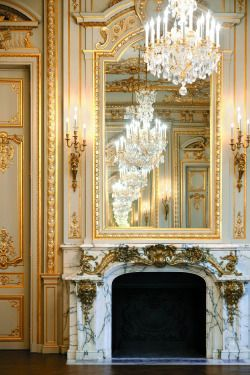 art design luxury city mirror rich money paris architecture france Interior History King Queen decor french gold capital hotel royal rococo chandelier Palace wealth fireplace century 18th Marble