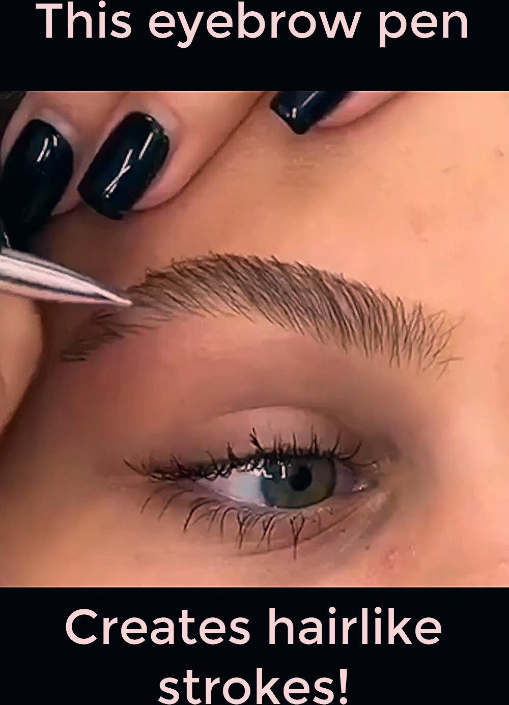 Photo of This eyebrow pen creates an instant microbladed look!