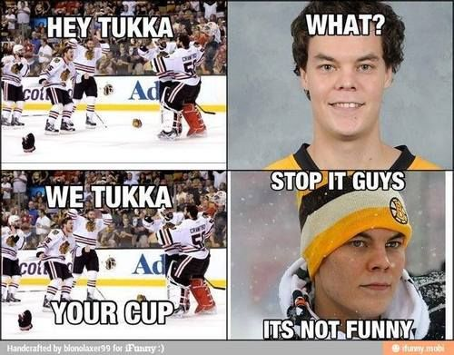 We Tuukka** your cup  It is SO DAMN funny!!!