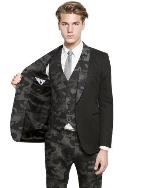 e19bab51da41 Men s Black Stretch Cotton Tuxedo Jacket