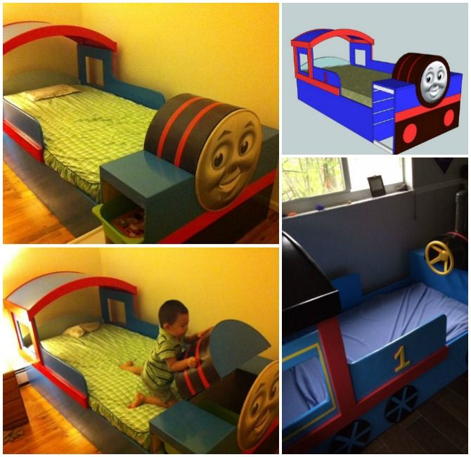 #DIY Thomas Train Bed Instructions Free Plan #Furniture, #Bed, #Crib