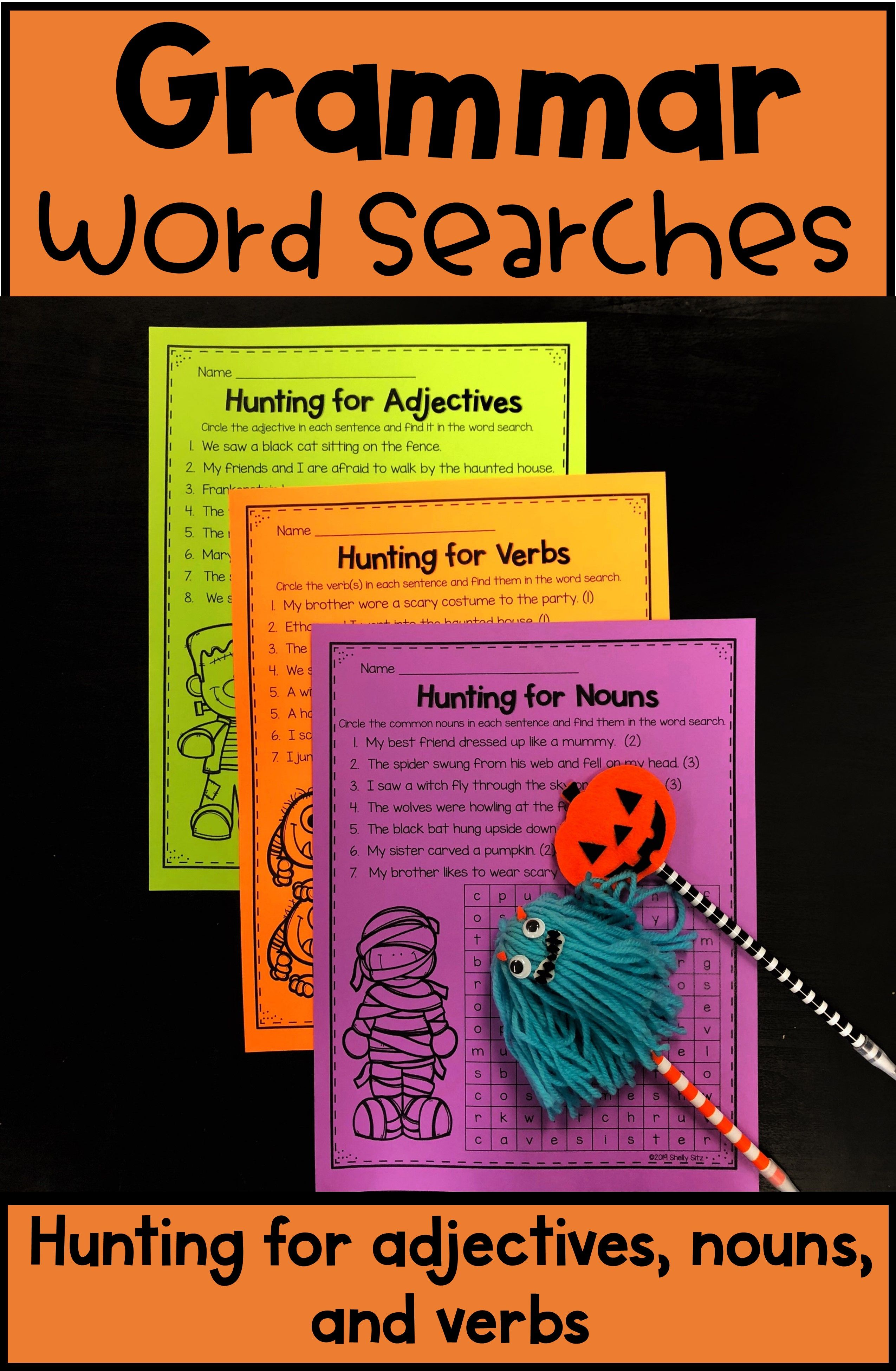 Grammar Word Searches