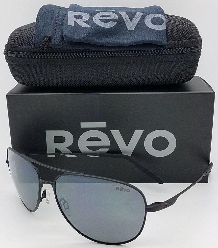 ce7041071d NEW Revo Windspeed Sunglasses RE 3087 100 GY Black Grey Polarized Aviator  RE3087 (eBay Link)
