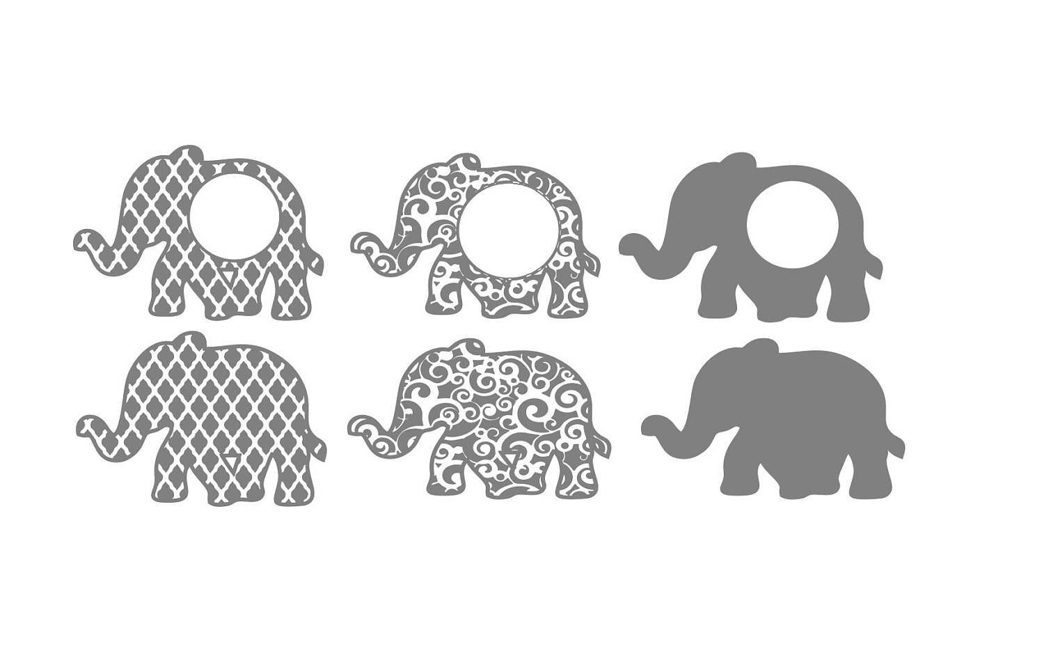 Elephant SVG File - set of 6 by EllietteElaine on Etsy | I can make ...