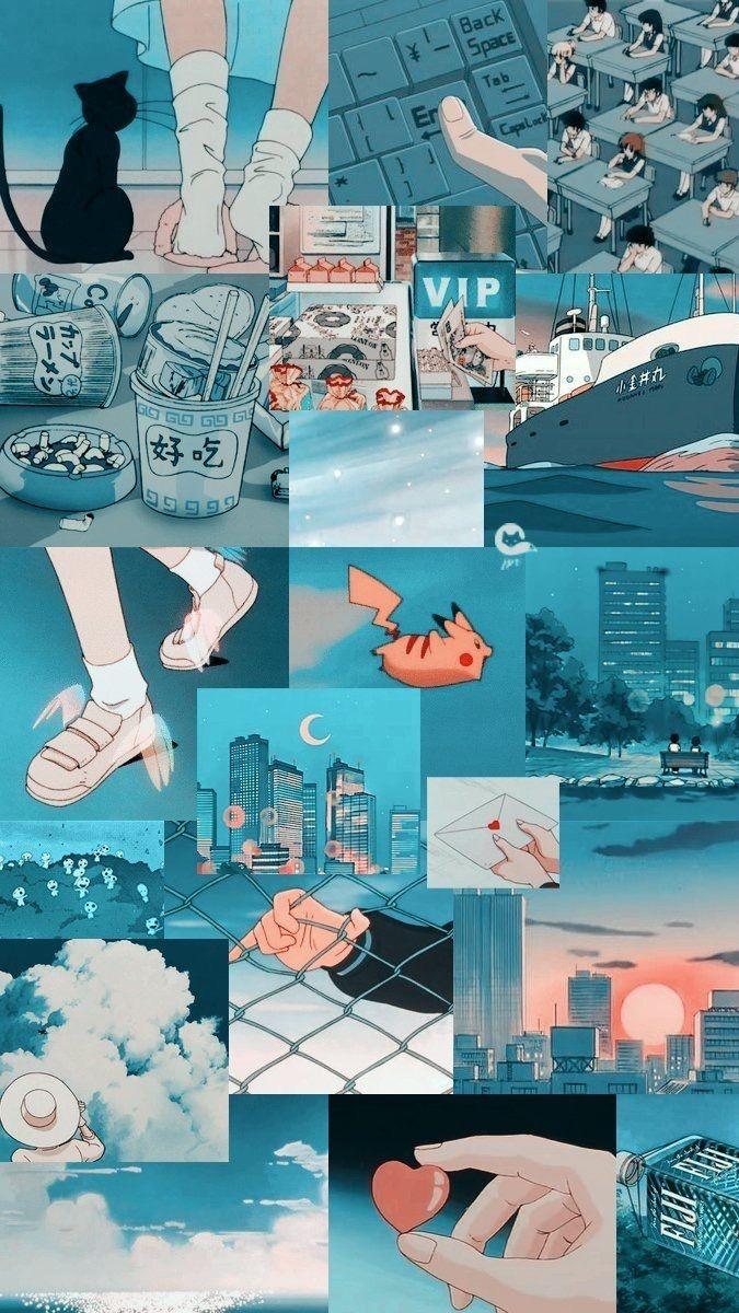 Aesthetic Anime Wallpaper : aesthetic, anime, wallpaper, 𝐓𝐢𝐭𝐚𝐧𝐢𝐚𝐡/titaniah_h, Anime, Collage, Wallpaper, Iphone,, Aesthetic, Pastel, Wallpaper,