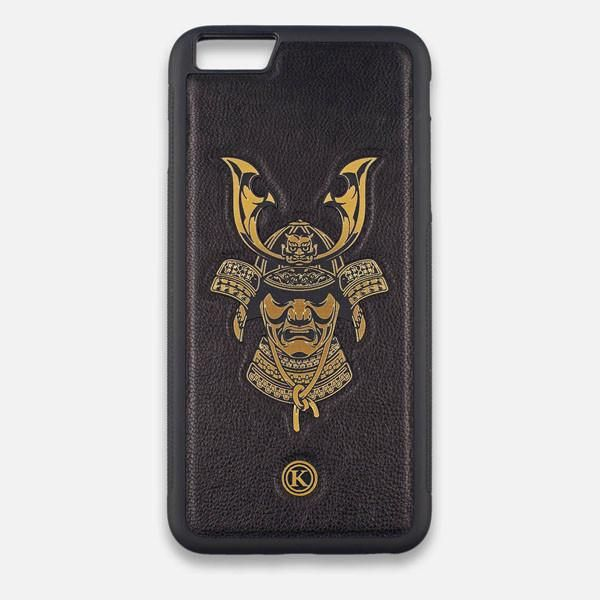 new concept e0a33 8bca9 Front view of the Samurai Black Leather iPhone 7 Plus Case by Keyway ...