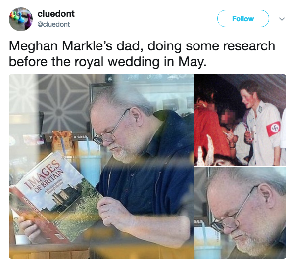 Meghan Markle's Dad Reading About Britain