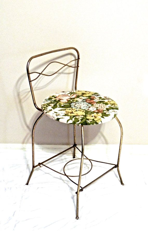 vintage brass vanity chair - 1950s mid century hollywood regency ...