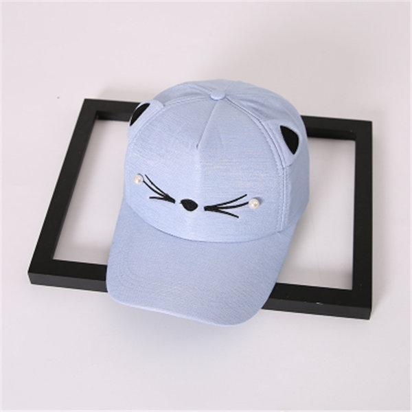 Cat Whiskers Baseball Cap with Cat Ears  32cbbfc6a424