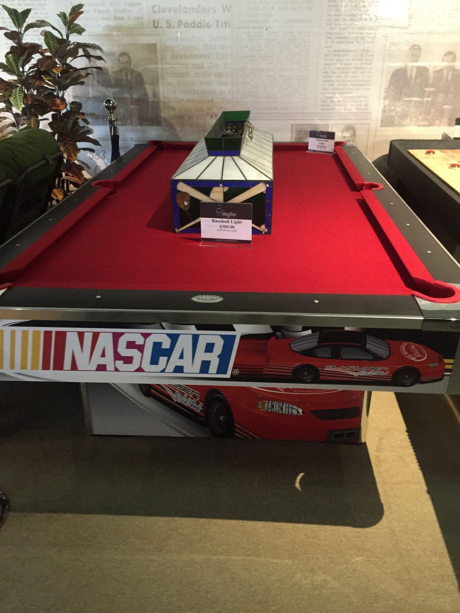 NASCAR Pool Table Fun Games Pinterest Pool Table Game Rooms - Nascar pool table light
