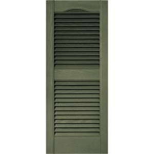 Builders Edge 15 In X 36 In Louvered Shutters Pair 282 Colonial Green 010140036282 At The Home Depot Shutters Exterior Vinyl Exterior Builders Edge
