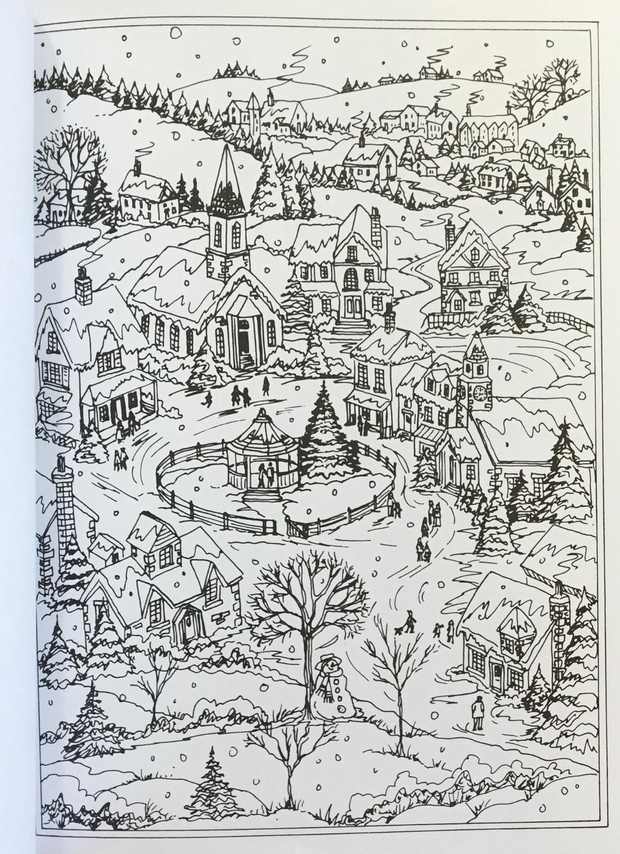 Amazon Com Creative Haven Winter Wonderland Coloring Book Adult