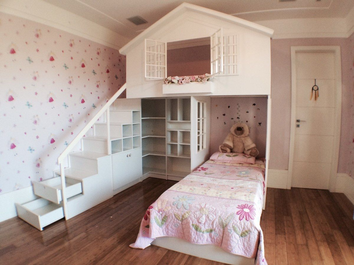 cama casinha infantil menina zimmer pinterest. Black Bedroom Furniture Sets. Home Design Ideas