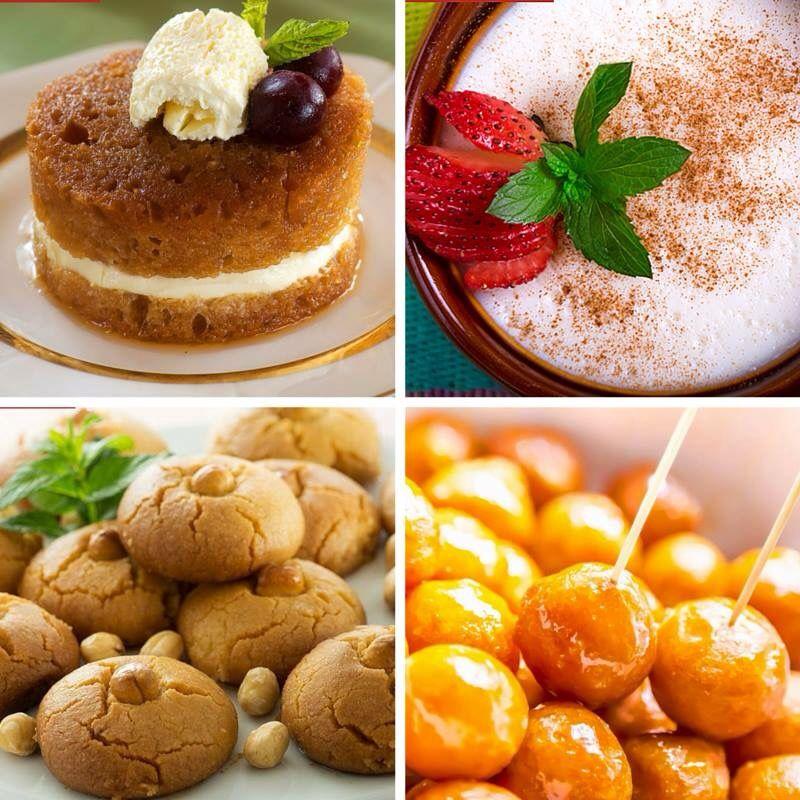 Ekmek Kadayıfı,Sütlaç,Şekerpare,Lokum..