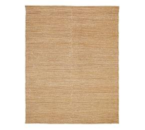 Chunky Wool Boucle Woven Jute Rug