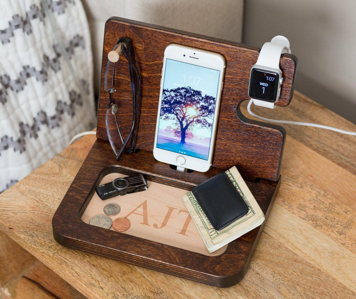 Mens gift idea Best Father In The Galaxy docking station anniversary gifts for dad personalized mens gift for him for men gift for husband