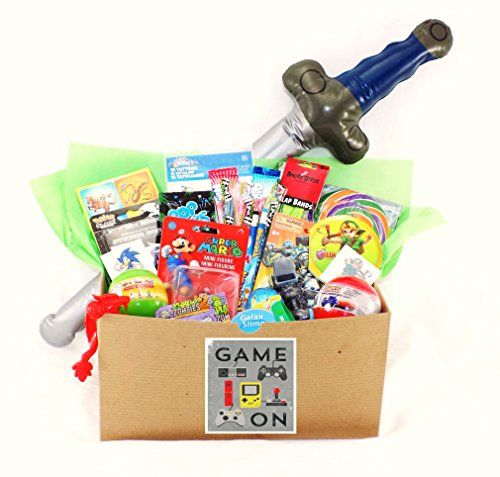 Video gamer candy toy gift basket with pokemon skylanders zelda video gamer candy toy gift basket with pokemon skylanders zelda sonic mario and more over the moon httpamazondpb00uidilpkref negle Images