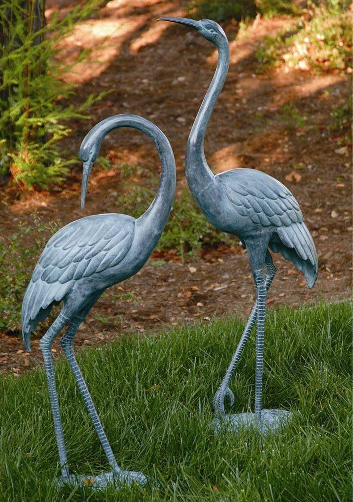 Metal Garden Ornaments Garden Sculptures Heron Garden Sculpture Bird Sculpture