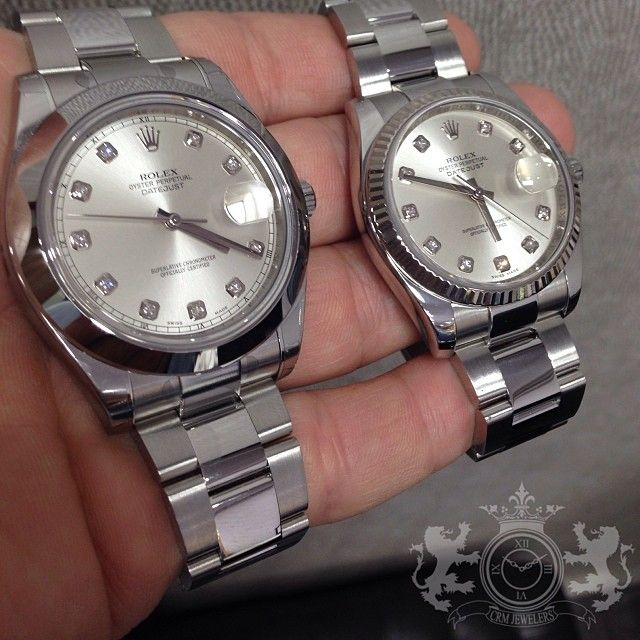 641d69b214 ❤️His and hers Rolex Datejust 41mm and 36mm Factory #CRMJewelers #rolex # couples