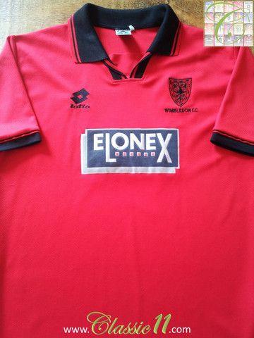 Relive Wimbledon s 1996 1997 season with this original Lotto away football  shirt. 5c70f3324