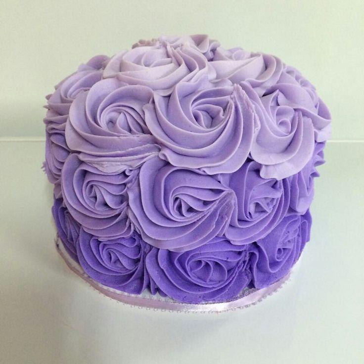 Ombre lavender purple smash cake Ombre Cake Purple 30th Cake