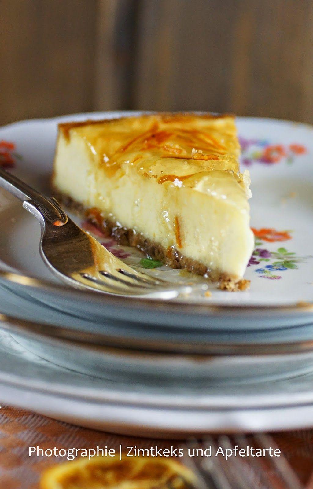 Zimtkeks und Apfeltarte: Es ist Liebe: Orange-Vanille-Cheesecake