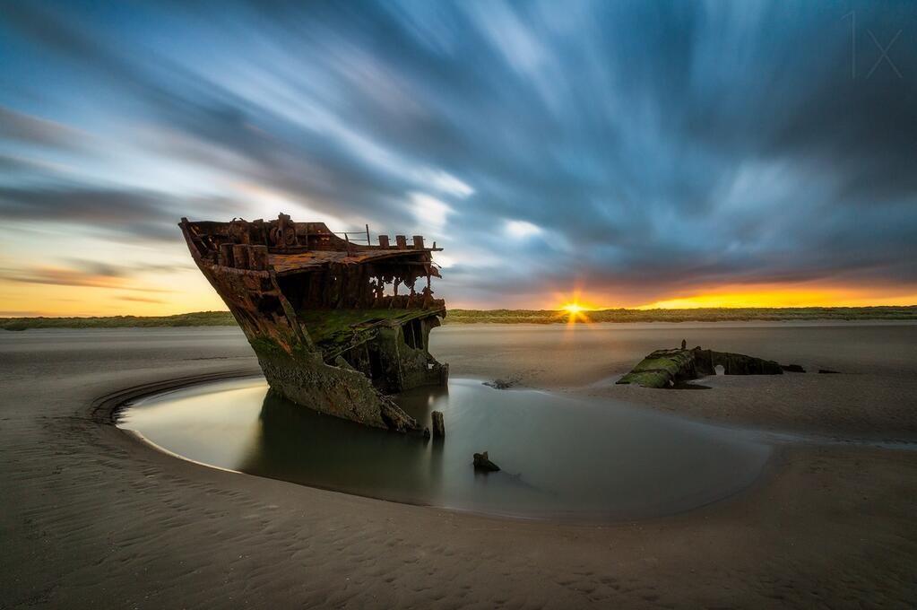Abandoned - Baltray ship wreck, Ireland