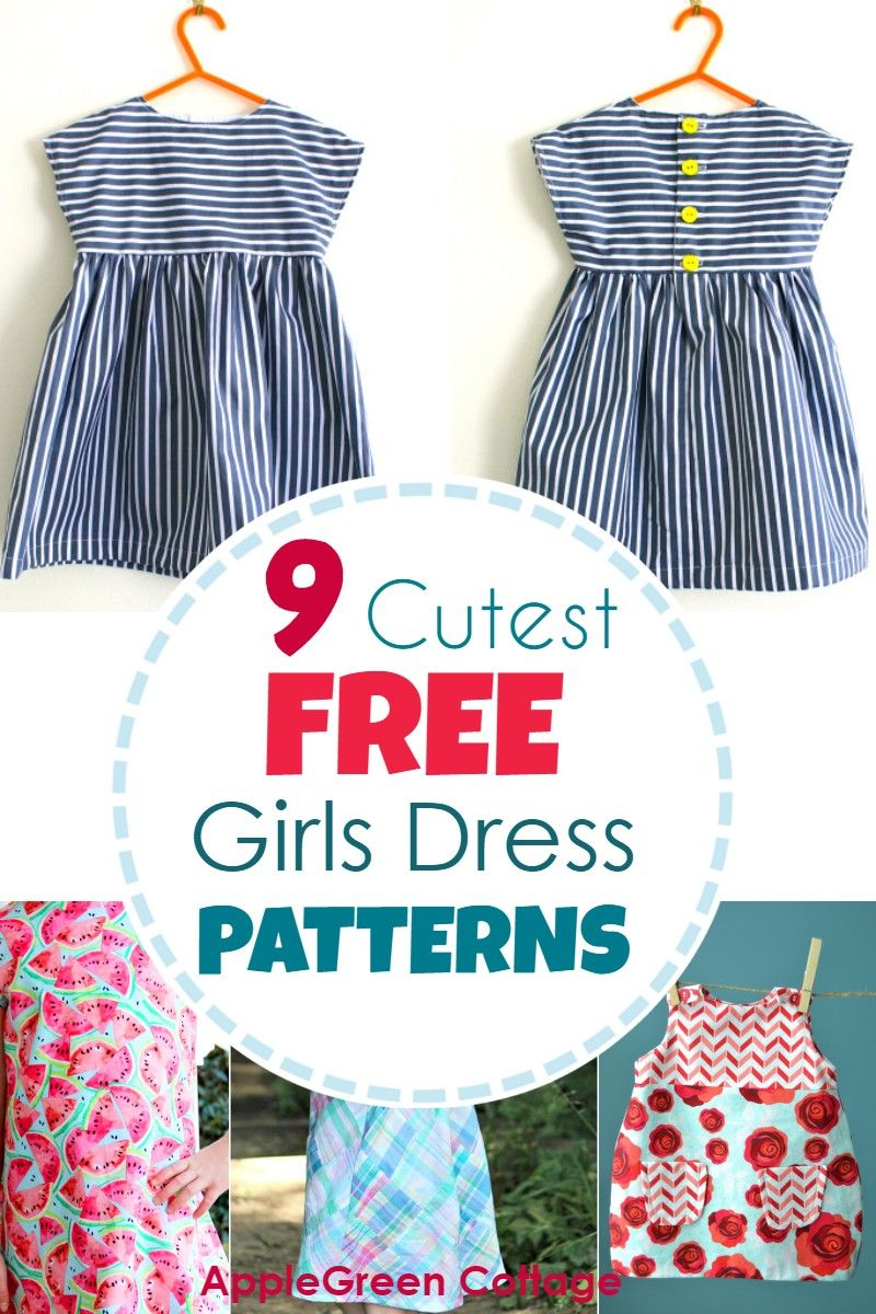 Dress Patterns For Girls - 9 Adorable Free Patterns! #beginnersewingprojects