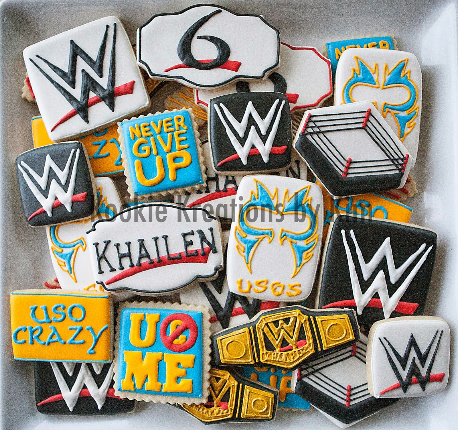 wwe cookies kookie kreations by kim john cena the usos my